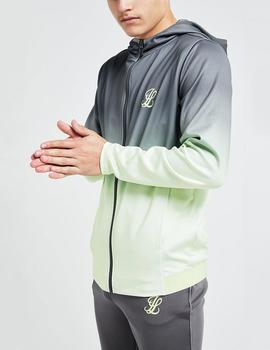 Sudadera Abierta Illusive BLAZE FADE - Dark Grey/Lime