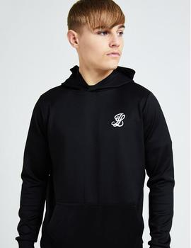 Sudadera Capucha Illusive London FLUX TAPED - Black/Pink