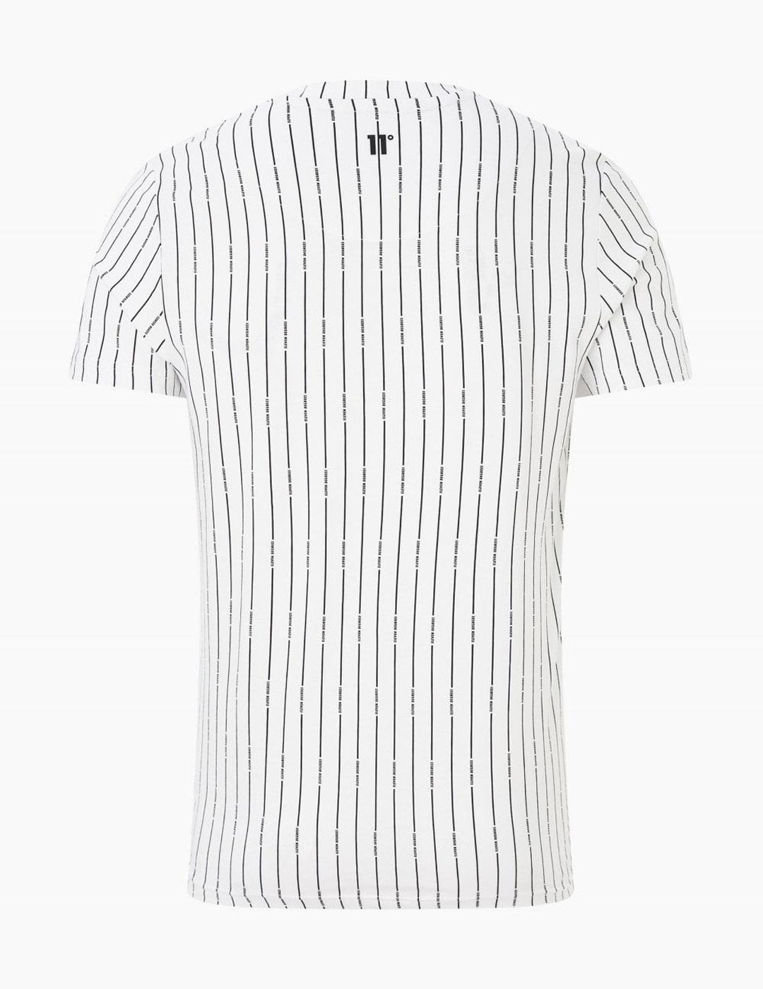Camiseta Eleven VERTICAL STRIPE - White/Black