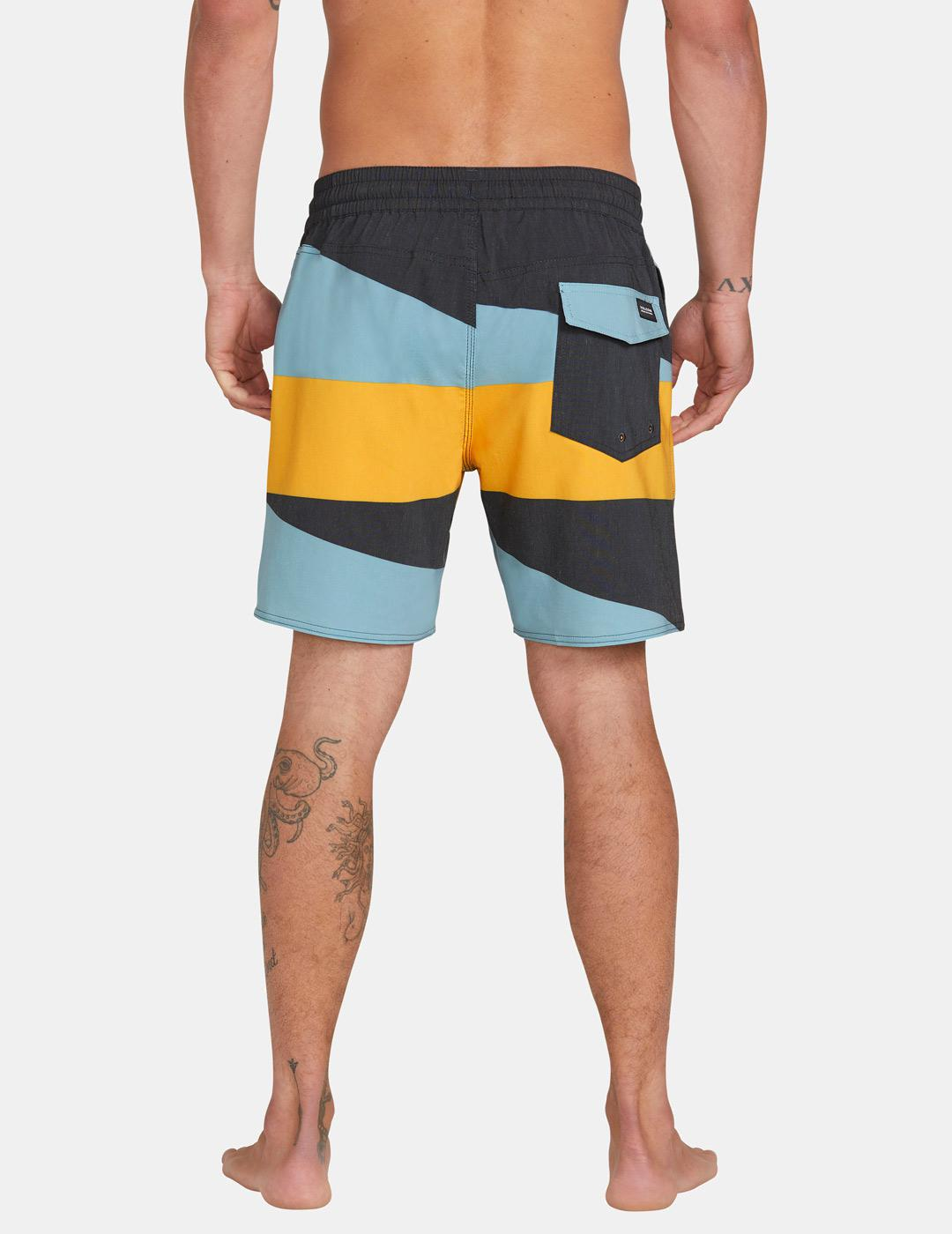 BAÑADOR VOLCOM KNOTICAL TRUNK 17' BOARDSHORT BLK BLACK