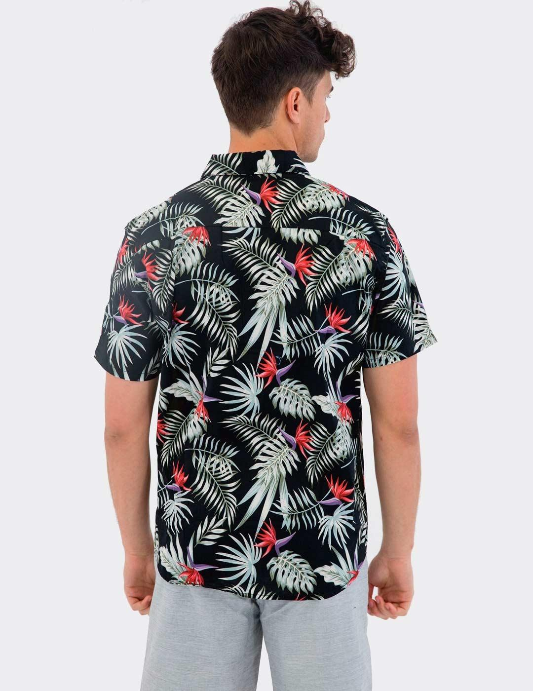 Camisa Hurley EXOTIC STRETCH SS - Black