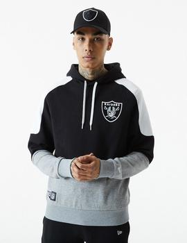 Sudadera Capucha New Era CONTRAST PANEL RAIDERS - Black
