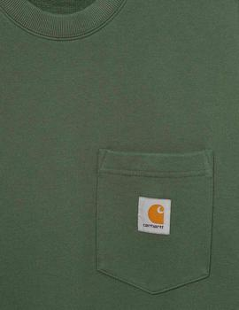Sudadera Crew CARHARTT POCKET  - Dollar Green