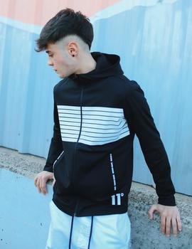 Sudadera Abierta Eleven CUT AND SEW PRINTED STRIPE - Negr