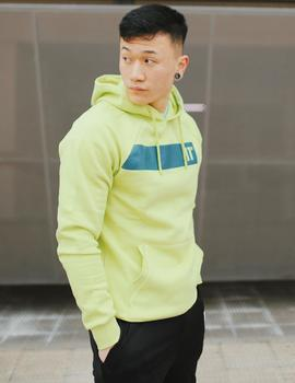 Sudadera Eleven Degrees  BLOCK GRAPHIC - Avocado Green