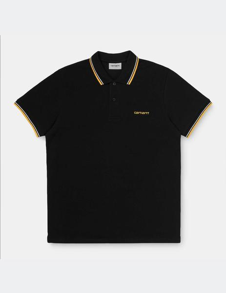 Polo Carhartt Script Embroidery - Black