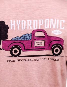 Camiseta Hydroponic NICE TRY - Rose Cloud