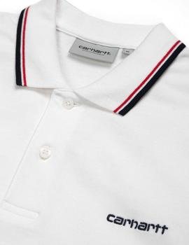Polo Carhartt Script Embroidery - White