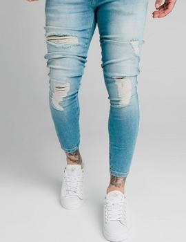 Pantalón SikSilk SKINNY DISTRESSED DENIM - Light Wash