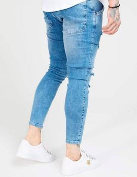 Pantalón SikSilk SKINNY DISTRESSED DENIM - Mid Wash