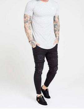 Pantalón SikSilk SKINNY DISTRESSED DENIM - Black