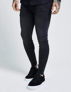 Pantalón SikSilk SKINNY DENIM - Washed Black