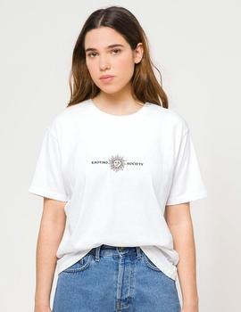 Camiseta Kaotiko WASHED SUN - Blanco