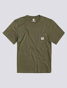 Camiseta Element BASIC POCKET LABEL - Army
