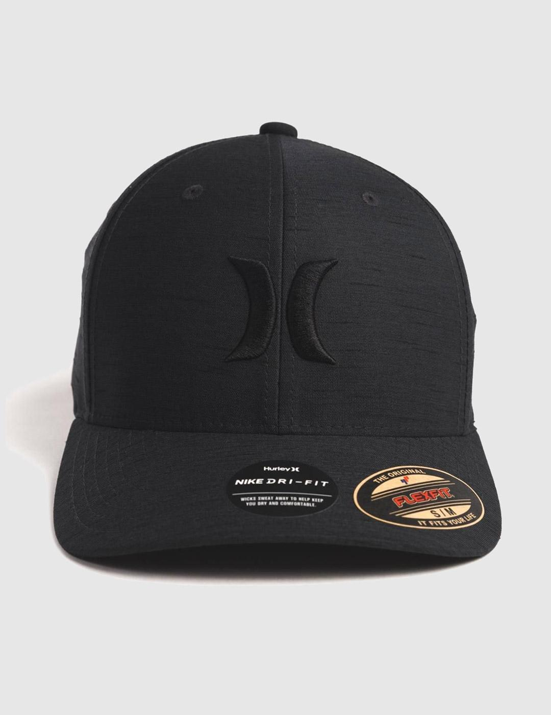 Gorra Hurley H20 DRI MARWICK ICON - Black Heather