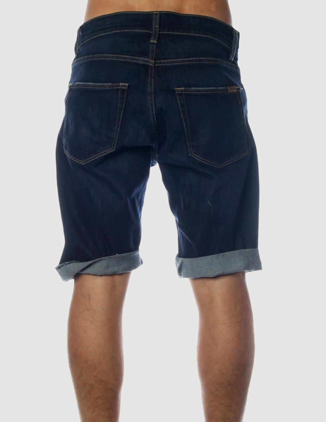 Bermuda Carhartt SWELL - Blue deep coasted washed