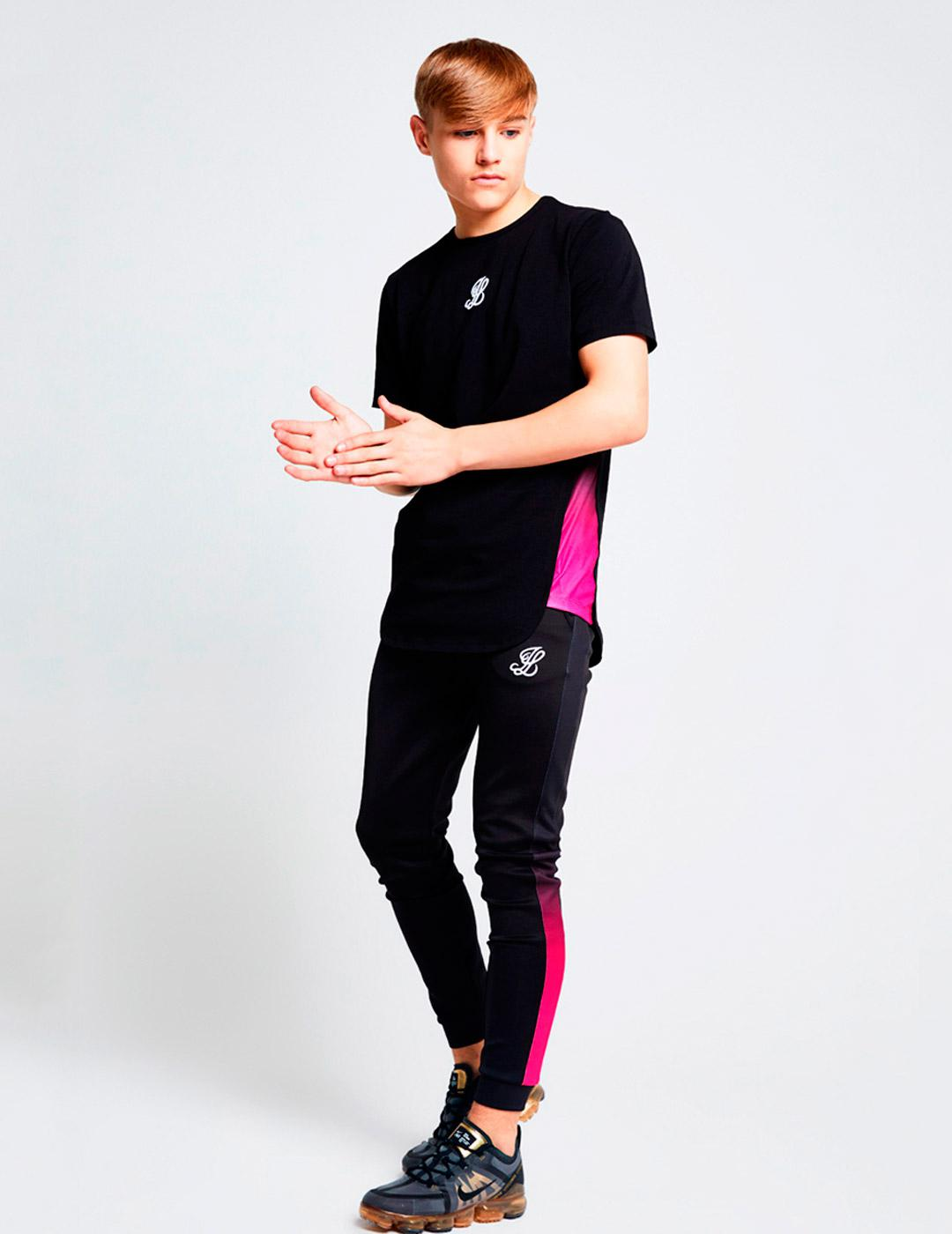 Camiseta Illisive London SLIDE - Black/Pink