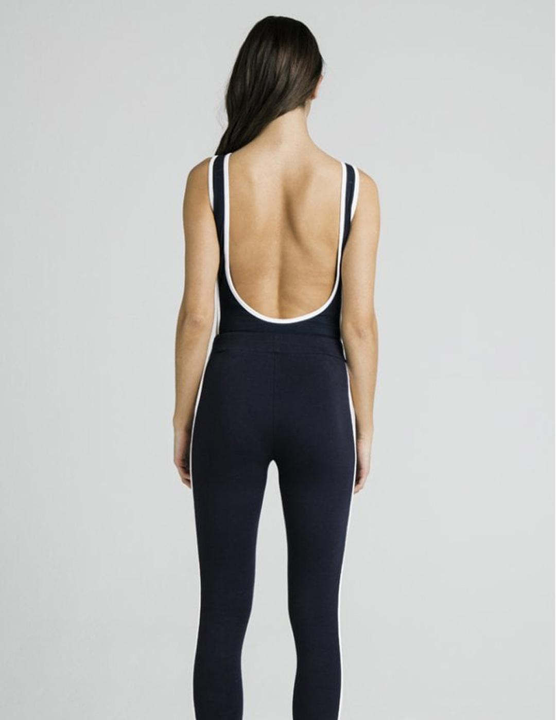 Body SIKSILK CONTRAST SIDE PANEL BODYSUIT - NIGHT SKY