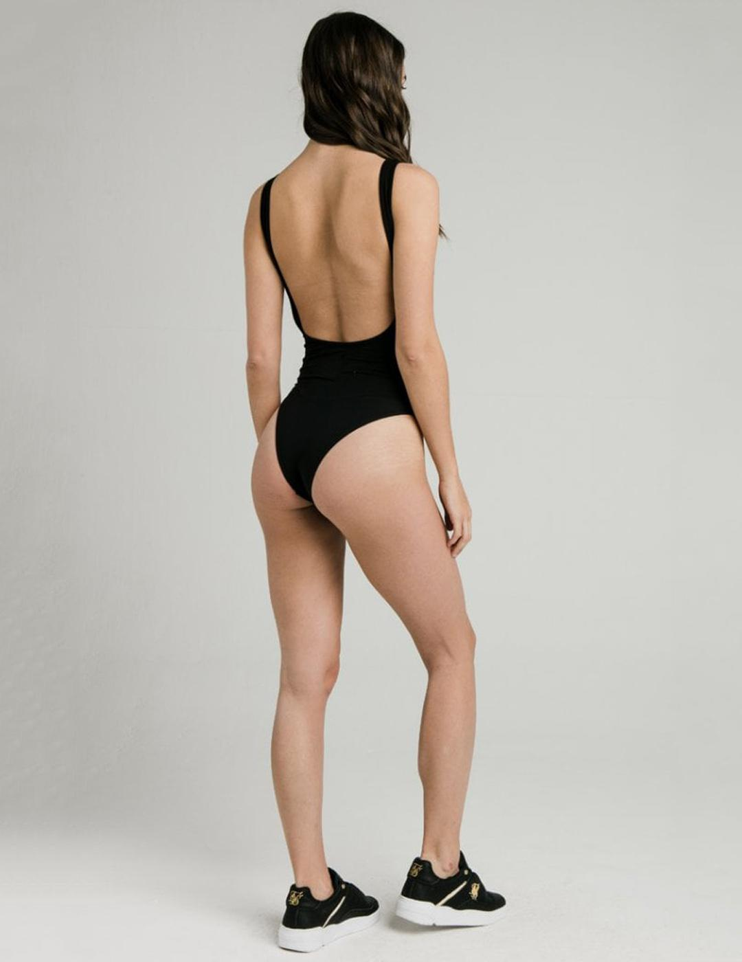 Body SIKSILK BACKLESS BODYSUIT - BLACK