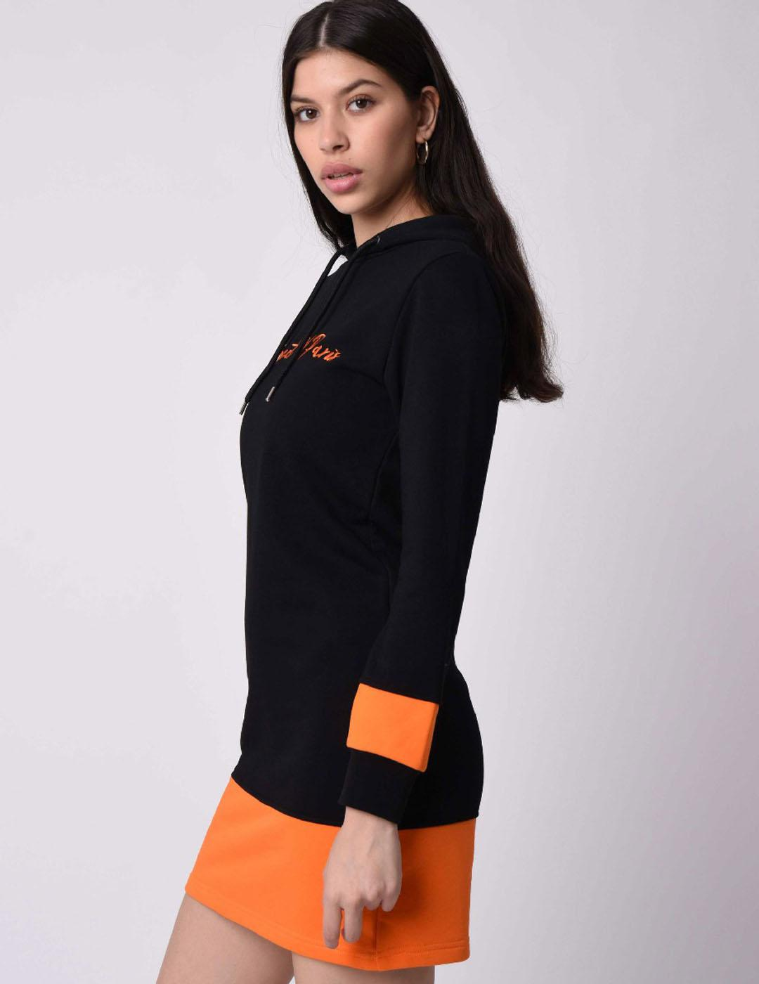 Vestido Proyect X Paris  F197031 - Black Orange