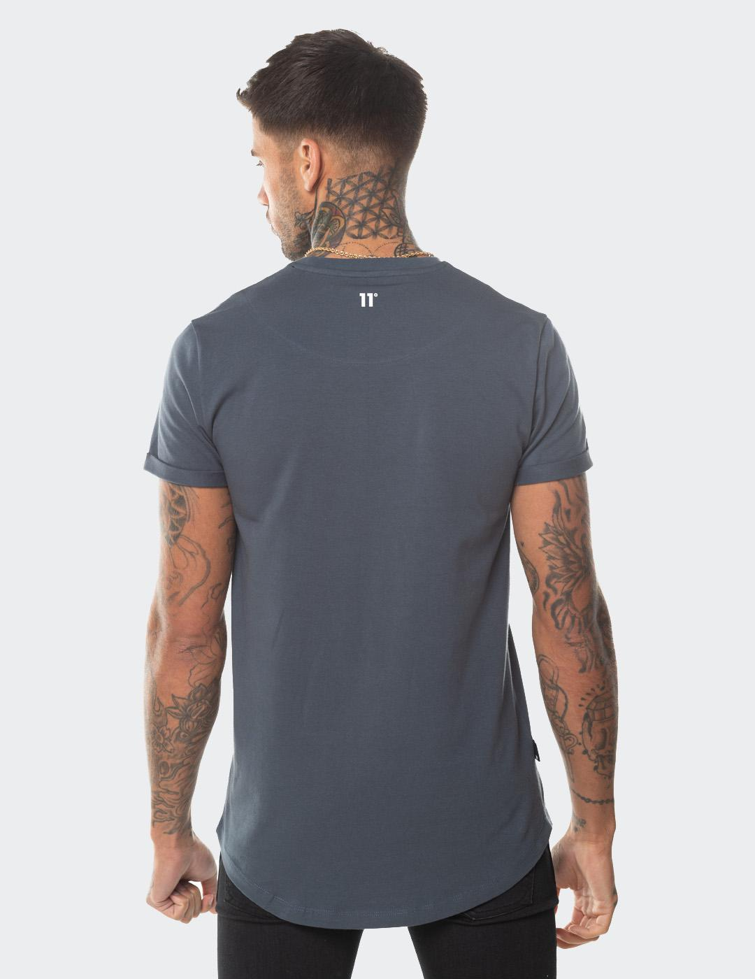 Camiseta  Eleven Degree CORE MUSCLE FIT T-SHIRT - ANTHRACITE