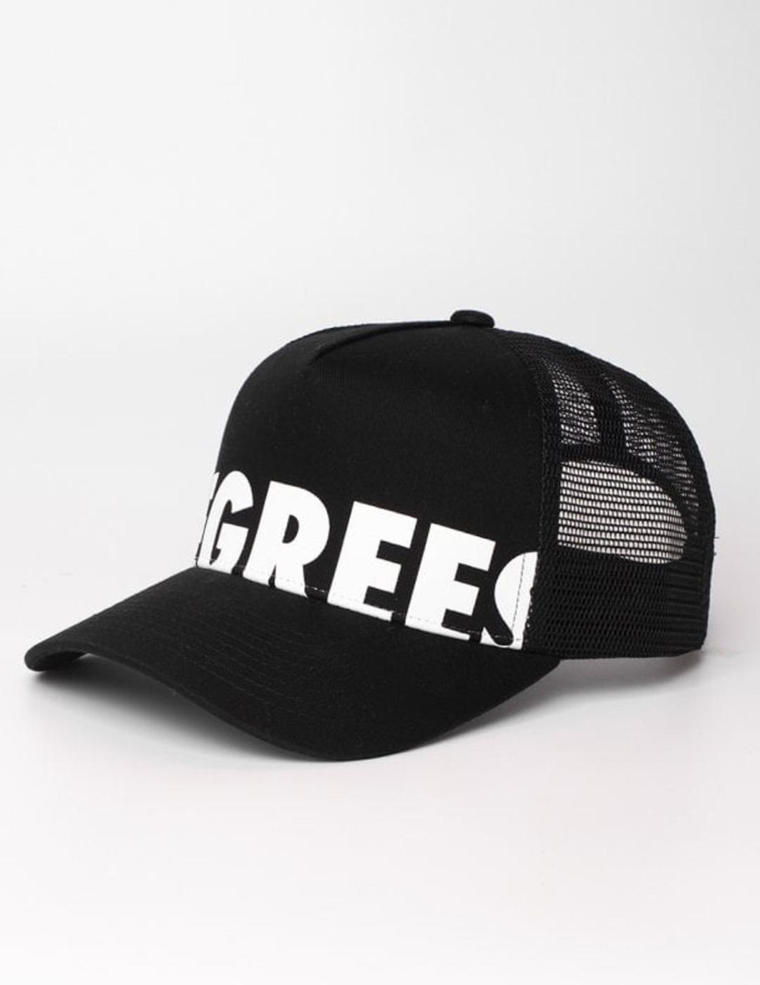 Gorra Eleven Degree  DEGREES LOGO TRUCKER - Black