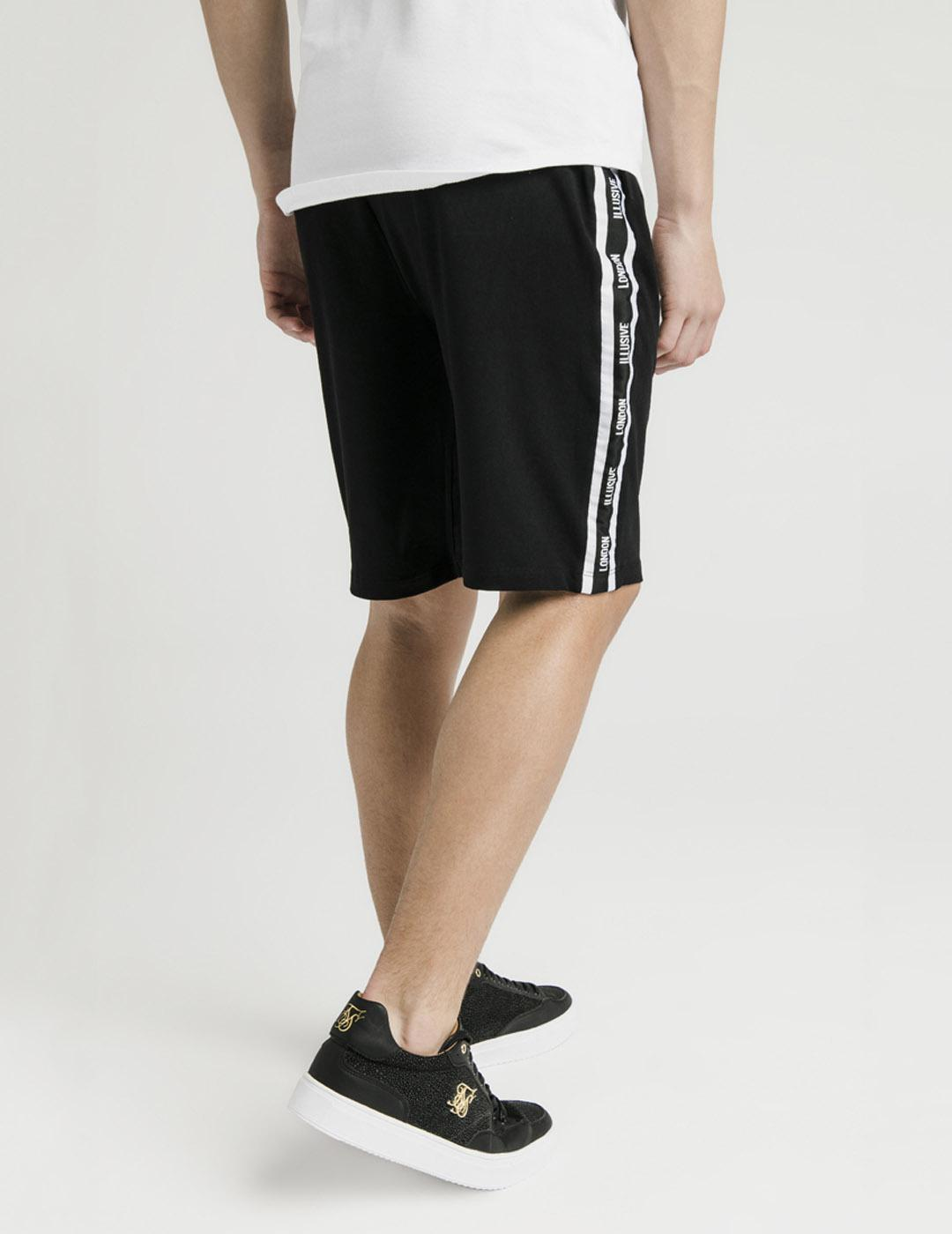 Bermuda Illusive London JERSEY SHORTS - Black white