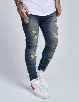 Pantalón DROP CROTCH SKIMSHRED JEANS - DARK BLUE