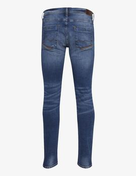 Pantalón 9694 LEATHER - Denim Middle blue