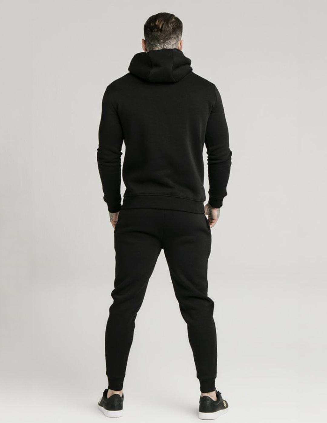 Sudadera Capucha muscle fit - Black