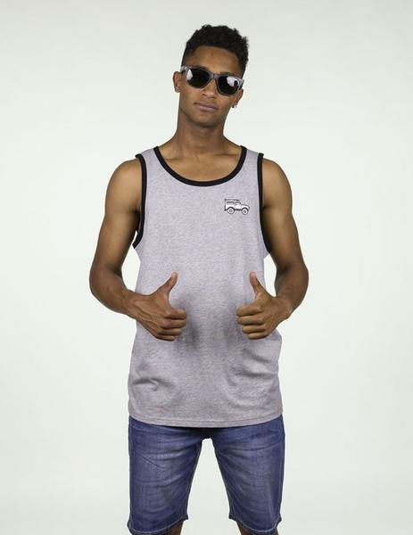 SAND RIDER TANK TEE heather grey