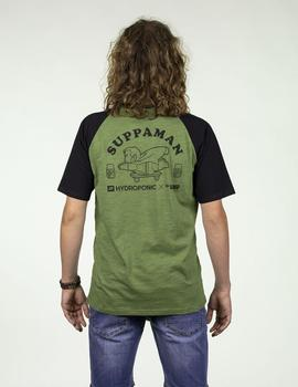 Camiseta Hydroponic SUPPAMAN SS TEE cactus green - black