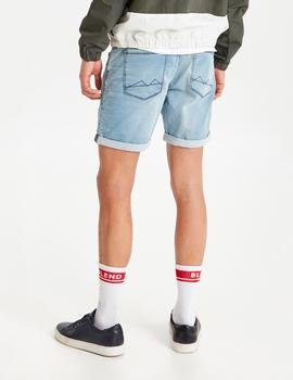 Bermuda Blend DENIM JOGG SHORTS - DENIM LIGHT BLUE