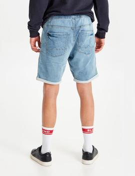 Bermuda Blend  DENIM JOGG SHORTS - DENIM MIDDLE BLUE